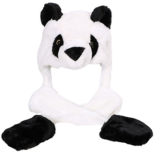 Simplicity Panda Animal Hats with Long Scarf 3 in 1 Multifunction Warm (Anime Bear)