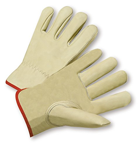 (West Chester 990IK 4XL Keystone Thumb Select Grain Cowhide Driver Gloves, 4XL, White (Pack of 12))