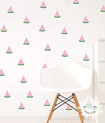 Watermelon Wall Decal / 2 Color Watermelon sticker / Watermelon Wall Sticker / Kids Room Decal / Home Decor