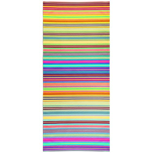 - Soopat Beach Towel,Abstract Stripe Color Line Pattern Vertical Retro Geometric Funky Bright Texture 30x60 Inch s Sand Free Beach Blanket for Travel Sports Beach Yoga Water Park
