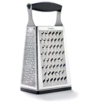 Cuisipro 746850 4-Sided Box Grater with Bonus Ginger Grater, Silver