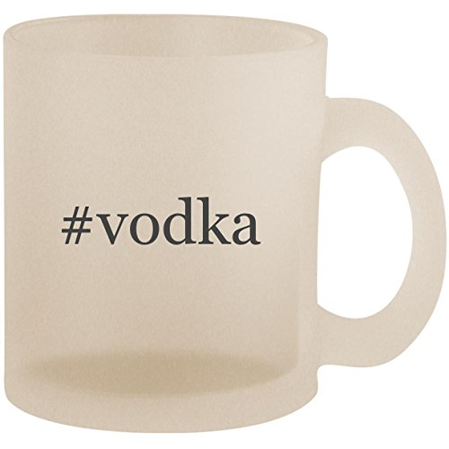 #vodka - Hashtag Frosted 10oz Glass Coffee Cup ()