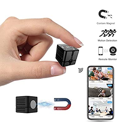 Ehomful Spy Camera WiFi,Wireless Hidden 960P Mini Body Cam, Auto Night Vision Convert with Monochrome Image,Built-in Strong Magnet,Multiple Viewers Streaming IP Camera for Home from Ehomful