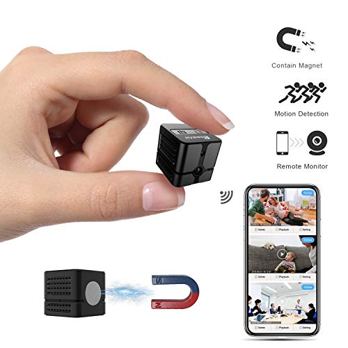 Video Car Spy (Spy Camera WiFi, Ehomful Mini Wireless Hidden Camera Real 1080P, Auto Night Vision Monochrome Covert,Built-in Magnet,No Lags & No Frozen Streaming,Works with Multiple Viewers)