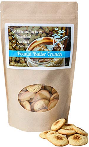 (Peanut Butter Crunch Dog Treats   100% All Natural & Healthy, Hypoallergenic   Grain, Gluten & Chemical Free, No Preservatives   Antioxidants   Hand-Crafted by the Batch   Made in USA, 10 oz.)