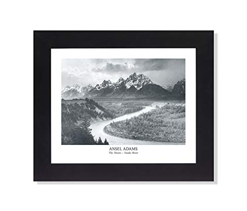 Ansel Adams Snake River B/W Photo Wall Picture Framed Art Print