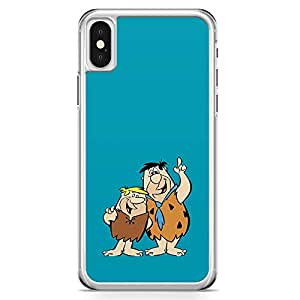 Loud Universe Brothers Flintstone iPhone X Case Blue Classic Cartoon iPhone X Cover with Transparent Edges
