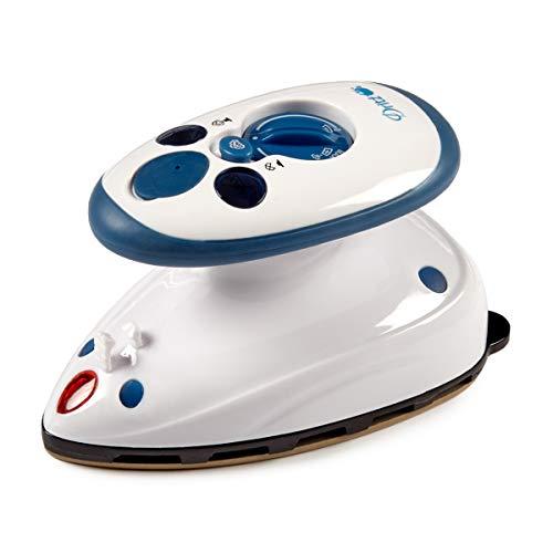 Dritz Mighty Steam Iron Portable Mini Iron White/Blue