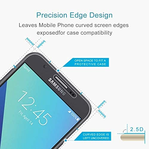 Pokjsofjnjlfkl Phone Accessories 100 PCS 0.26mm 9H 2.5D Tempered Glass Film for Samsung Galaxy J7 V Screen Protectors for Phone