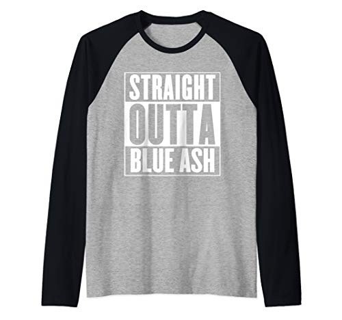 Straight Outta Blue Ash Raglan Baseball Tee