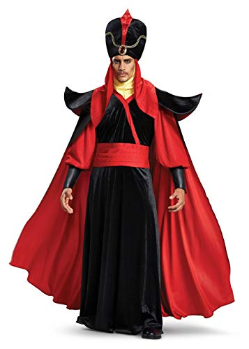 Disguise Men's Jafar Deluxe Adult Costume, Black, XL (42-46)