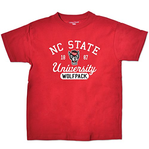 - College Kids NCAA North Carolina State Wolfpack Youth Short Sleeve Tee, 7/X-Small, Red