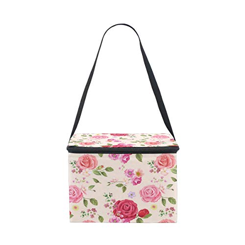 Can Make Wallpaper Roses Adult Lunch Bag Men And Women Lunch Bag Detachable Shoulder Strap Is Very Suitable For Work Office Or Travel Lunch Bag Luxury Meal Bag