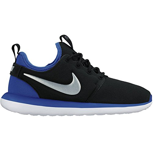 Nike Kids Roshe Two (GS) Black/Mtlc Pltnm/Pht Bl/Gm Ryl Running Shoe 5.5 Kids US by NIKE