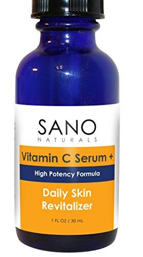 La vitamine C Serum 20%. Meilleur Vit C et Acide Hyaluronique Sérum + Aloe résiste à l'oxydation (fait d'autres SERUMS FONCTIONNE PAS). Stimuler collagène naturel, anti-âge, soins de la peau anti rides. Parfait Avec la Crème Contour des Yeux de Sano pour