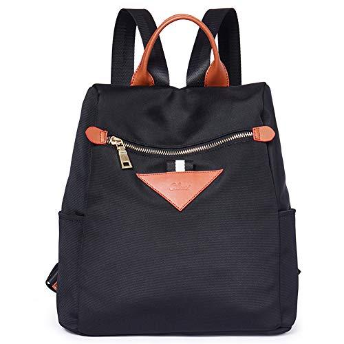 Backpacks Purse for Women Canvas Fashion Travel Ladies Designer Shoulder Bag Black