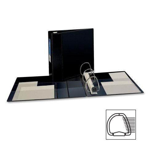 Wholesale CASE of 10 - Avery Heavy-Duty EZD Reference Binders-3-Ring EZD Binder, 4'' Capacity, 8-1/2''x11'', Black