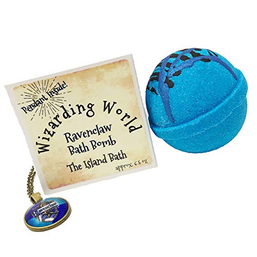 Wizard World Blue House Bath Bomb Gift Box with Matching Pendant - Made in USA (New Bronze Chain World)