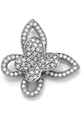 Zoe R Micro Pave Hand Set Cubic Zirconia Butterfly Pendant