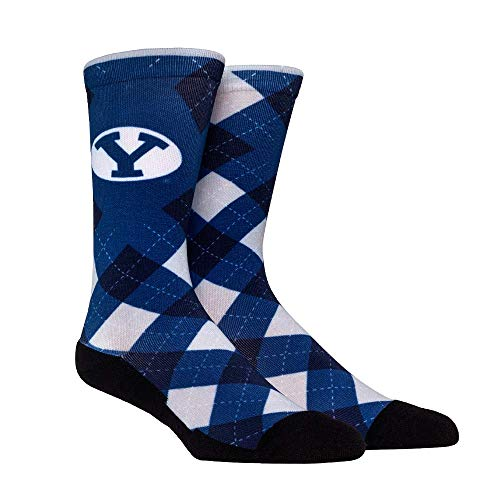 NCAA Super Premium College Fan Socks (L/XL, BYU Cougars - Argyle)