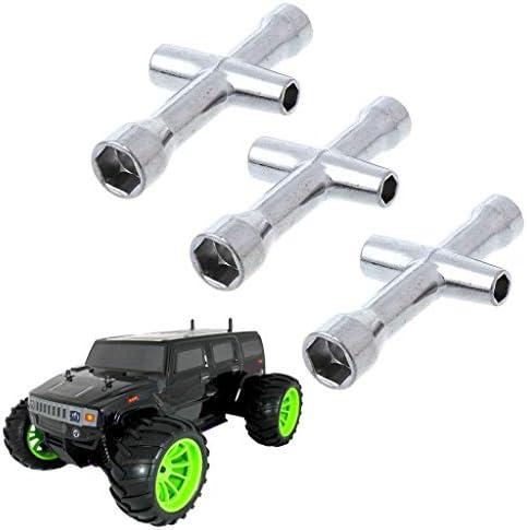 Jenor 3 Stück Hsp 80132 Kreuzschlüsselhülse 4 5 5 5 7 Mm M4 Für Rc Auto Rad Werkzeug Baumarkt