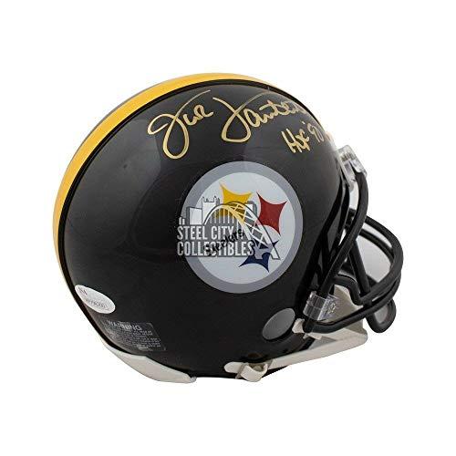 Football Lambert Jack Signed - Jack Lambert HOF Autographed Signed Pittsburgh Steelers Mini Football Helmet Memorabilia - JSA Authentic