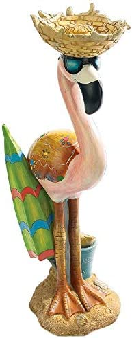 Design Toscano Luau Larry the Flamingo Pink Flamingo Garden Statue