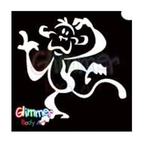 Glimmer Body Art Glitter Tattoo Stencils - Monkey (Painting A Monkey Face For Halloween)