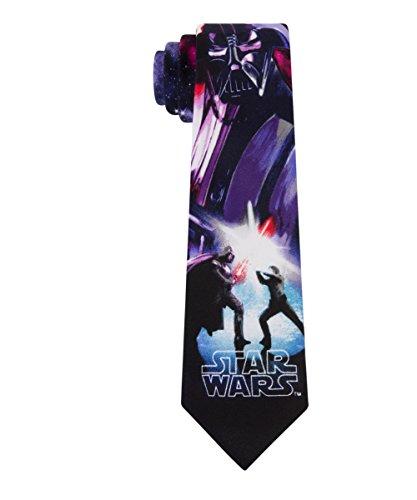 Star Wars Big Boys Original Trilogy Ties (Various Patterns), Duel Purple, One Size (Star Wars Tie)