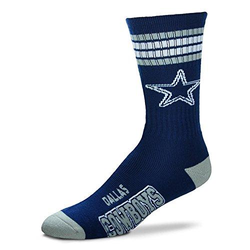 NFL 4 Stripe Deuce Crew Socks-Dallas Cowboys-Medium ()