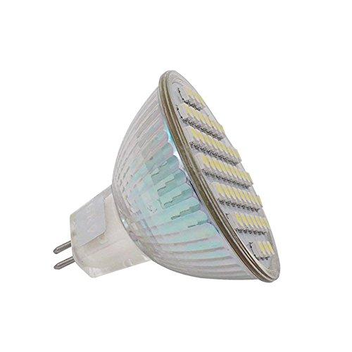 - GRV MR16 LED Bulb G5.3 Bi-pin Base 48-3528 SMD 3W Lamp Spotlight Light Ac 12V / Dc 12V-24V Cool White Pack of 2