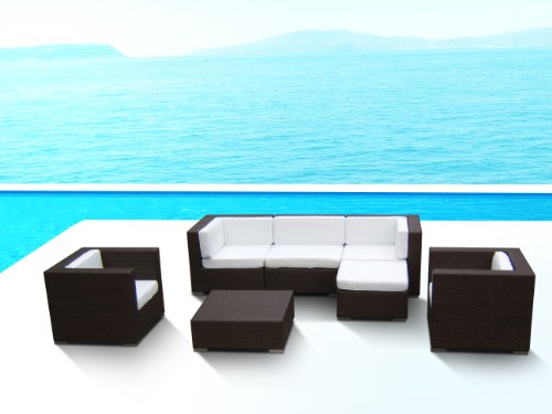 Outdoor Patio PE Resin Wicker Furniture All Weather 7pc Vil Deep Seating New Sectional Sofa Set