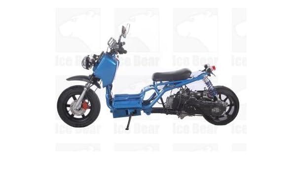 IceBear Maddog 50cc Gas Street Legal Scooter - Blue: Amazon ca