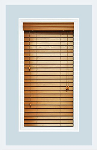 Delta Blinds Supply Custom-Made, Premium Real Wood Horizontal Window...