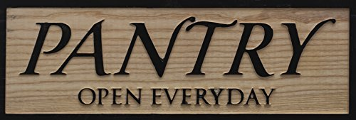 """Knam Wooden Pantry Sign 