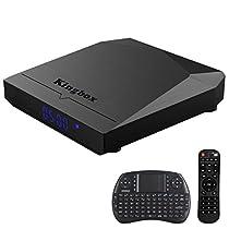 Kingbox K3 Android 7.1 TV Box 2GB RAM + 16GB ROM [2018 Ultima Generazione] Box TV 64 Bit / Octa Core / S912 / H.265 / 2.4G + 5G Doppio WiFi / BT 4.0 / 1000M LAN con Mini Tastiera Wireless