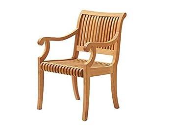 Grade-A Teak Wood Luxurious Arm Captain Dining Chair Model Giva WHDCARGV