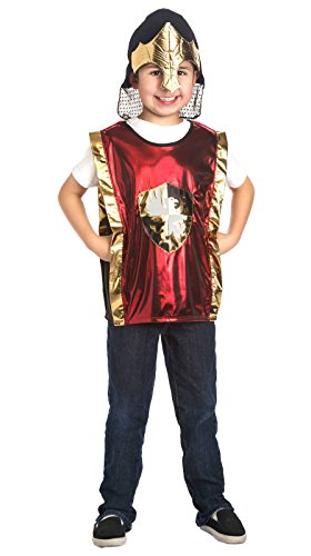 Little Adventures Boys Red & Gold Armor & Helmet Set - One-Size (3-8 Yrs) ()