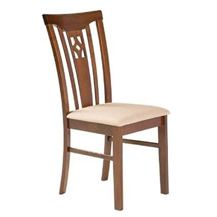 Varie Sedia in legno e tessuto per cucina, sedie classiche per ...