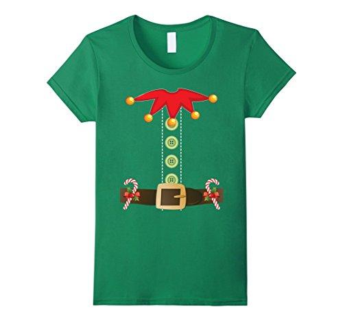 Cute Female Elf Costumes (Womens Cute Santa's Little Helper Elf Costume Christmas T-Shirt Small Kelly Green)