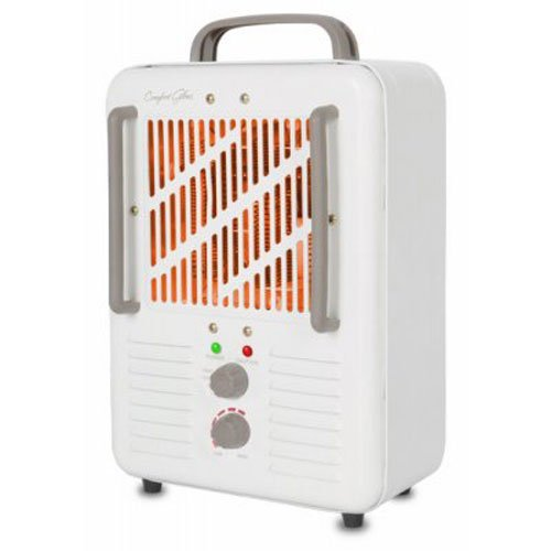 Comfort Glow EUH341 Milk house Style Utility Heater in 2-Tone Cream/Chocolate Finish, 1500-watt 1500-Watt Comfort Finish Garage, Shop And Utility Heaters Glow Heater in Style Utility World Marketing of America