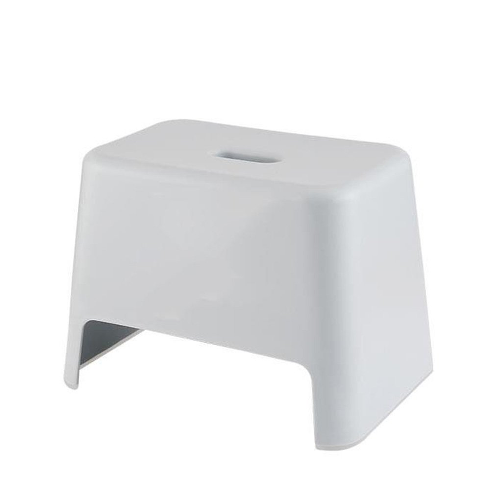 TLMY Plastic Stool Thickening Adult Shoes Children's Stool Bathroom Stool Square Stool Small Bench Dining Table Stool Home Chair (Color : Gray)