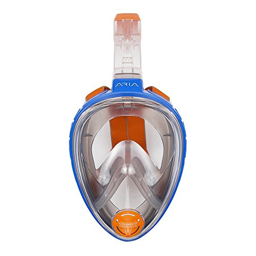 Ocean Reef Aria Full Face Snorkel Mask (Blue, XSM)