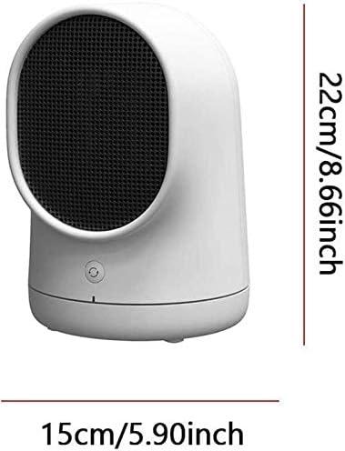 HLJ Petit Electroménager Cheminée, Chauffage électrique Ventilateur Portable Mini chaufferette en céramique avec la Chaleur et