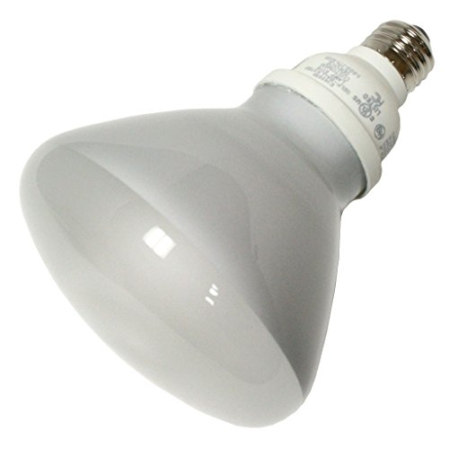 TCP 1R402322535K CFL R40-120 Watt Equivalent (only 23w Used!) Bright White (3500K) Covered R40 Flood Light Bulb ()