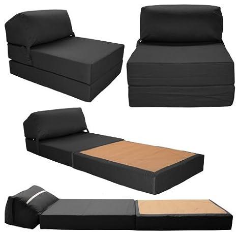 Gilda - Sofá cama jazz, color negro