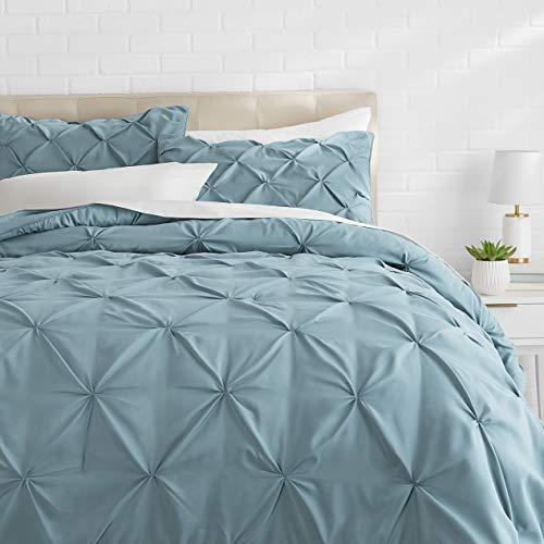 Hemau Premium New Soft Pinch Pleat Comforter Set - Full/Queen, Spa Blue   Style 503192272