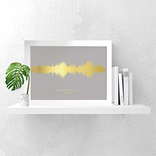 f7887118d9a5 Personalised favourite song print gift sound waves gold silver copper foil