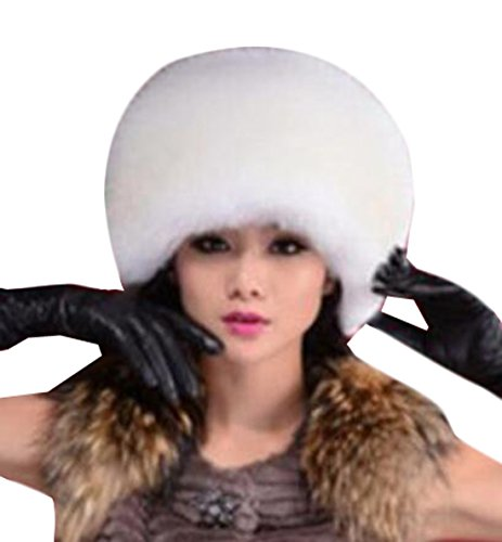 NQ Womes Russian Style Winter Ear Flap Hat White OS