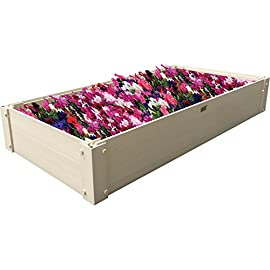 New Age Garden EPGB203-2X4 Stackable Garden Bed 5 Plant and grow above the ground Stackable for increased depth Natural maple color won't turn gray in the sun